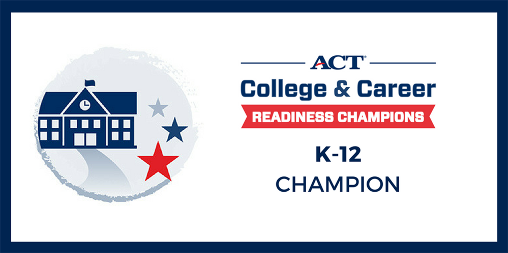 Mrs. Drake is an ACT College and Readiness Champion!